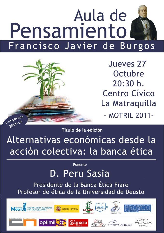 """""""ALTERNATIVAS ECONÓMICAS DESDE LA ACCIÓN COLECTIVA: LA BANCA ÉTICA"""""""