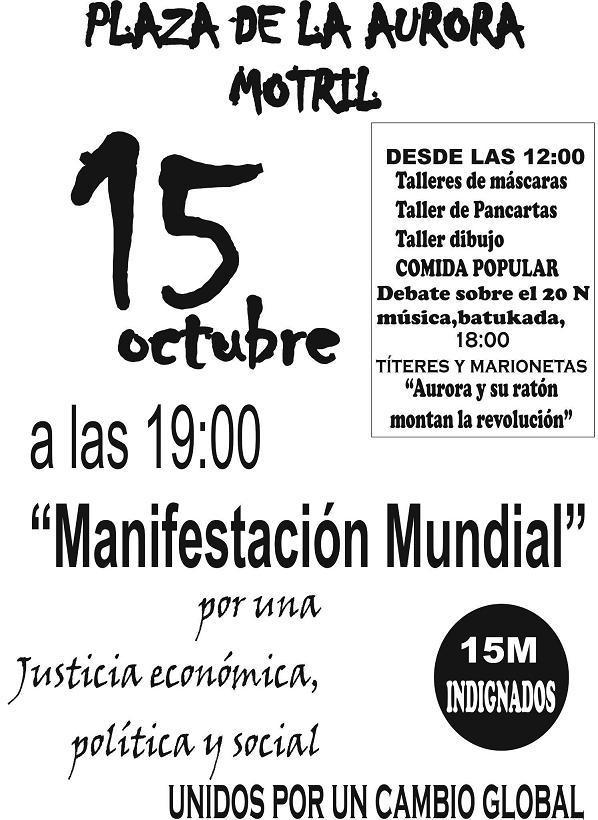 Por una justicia económica, política y social ( 15-M Indignados de Motril)