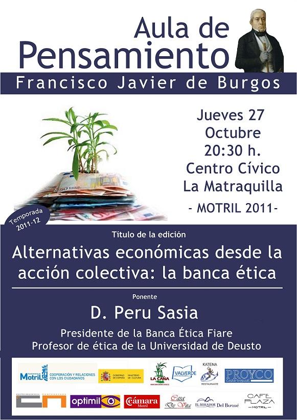 Peru Sasia jueves 27 en el Aula de Pensamiento Francisco Javier de Burgos de Motril