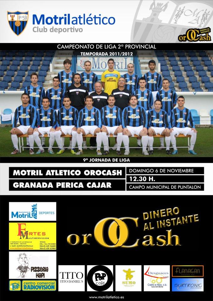 El Motril Atlético Orocah se enfrenta este domingo al Granada Perica