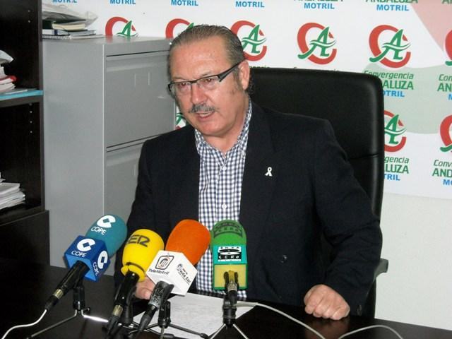 Luis Rubiales critica la gestión del equipo de gobierno en Protección Civil de Motril