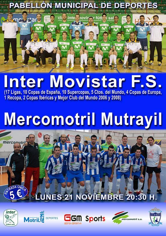 El Inter Movistar disputa un amistoso con Mercomotril en Motril