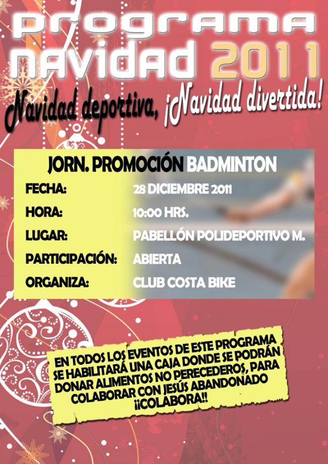Costa Bike Motril celebra este miércoles el Torneo de Badminton navideño