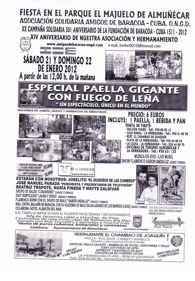 La Asociación Amigos de Baracoa hacen su paella gigante en Almuñécar