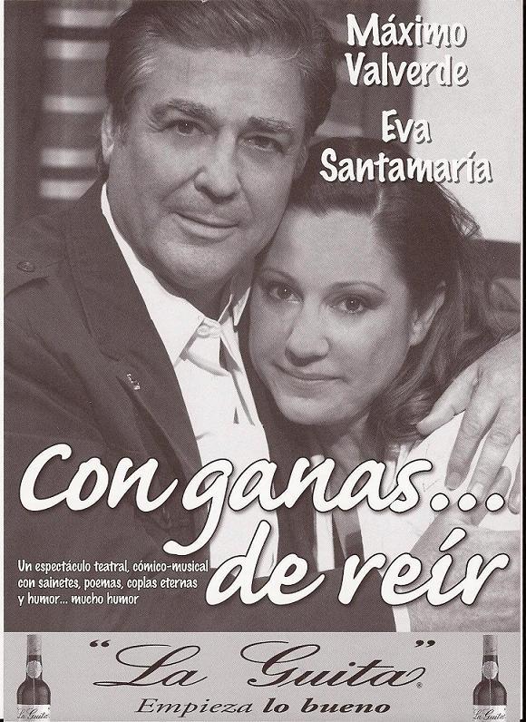 """Máximo Valverde y Eva Santamaría presentan este sábado en Almuñécar la obra teatral  """"Con ganas… de reír"""""""