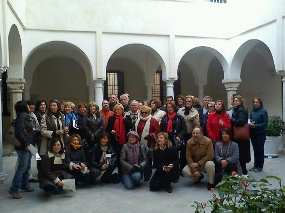 Los miembros de El Ateneo de Motril visitan el Museo Thyssen y Centro de Arte Contemporáneo de Málaga