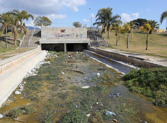El PSOE reclama la limpieza y desinfección de la rambla de Los Álamos