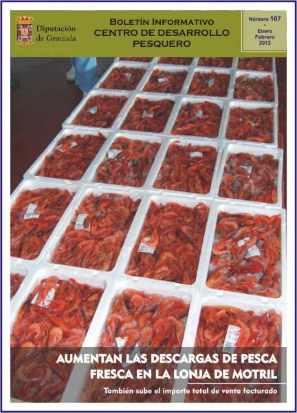 El Boletín del Centro de Desarrollo Pesquero de Motril anuncia un aumento de la descarga de pesca en la lonja
