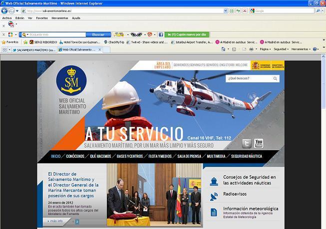 Nueva página web de Salvamento Marítimo