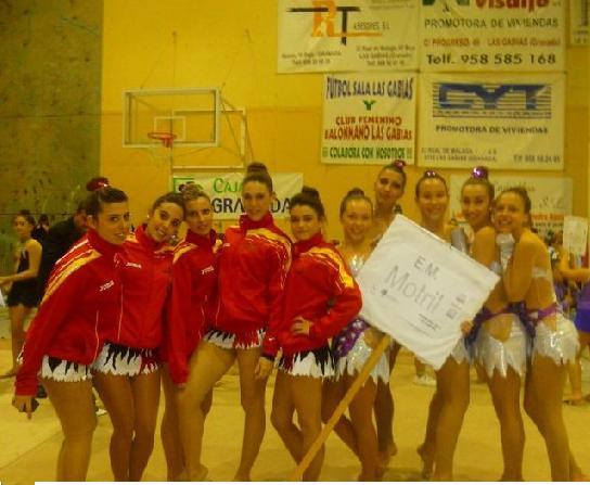 Excelente actuación de la Escuela Deportiva Municipal de Gimnasia Rítmica en el Campeonato de Promesas de Granada