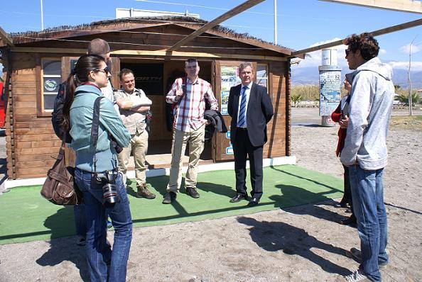 Motril recibe la visita de periodistas polacos especializados en turismo activo y nuevas tecnologías