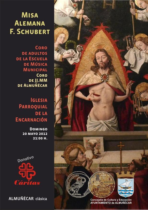 La Iglesia de la Encarnación de Almuñécar ofrecerá este domingo la Misa de F. Schubert