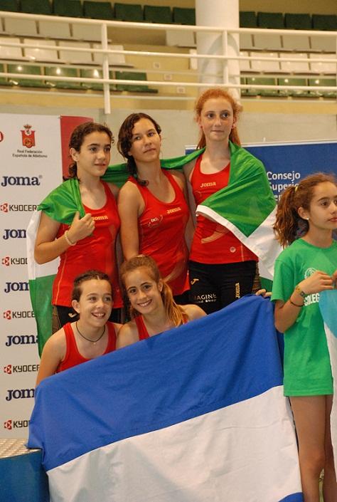 Las chicas del Virgen de la Cabeza, terceras en la Final Nacional de Jugando al Atletismo