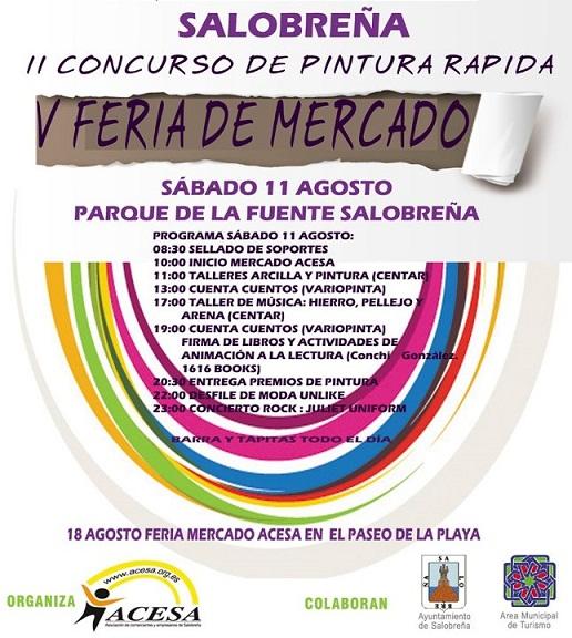 II Concurso de Pintura Rápida y V Feria de Mercado en Salobreña
