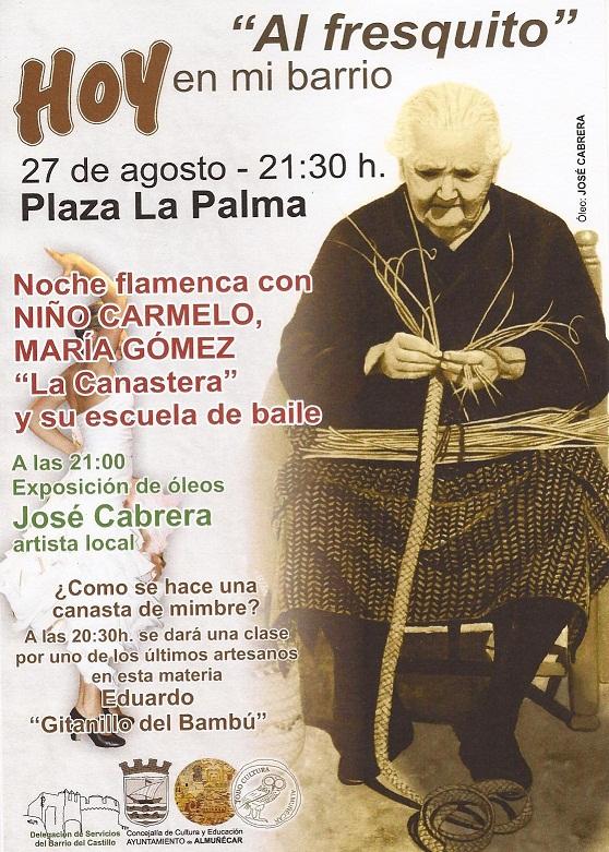 """Un espectáculo flamenco en la plaza La Palma cierra el programa """"Al fresquito"""" del  barrio de San Miguel de Almuñécar"""