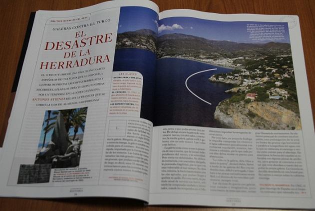 """La revista """"La Aventura de la Historia"""" publica un reportaje del Naufragio de la Armada en La Herradura"""