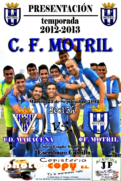 CF Motril - UD Maracena este martes en el Escribano Castilla