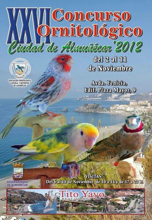 """El Concurso Ornitológico """"Ciudad de Almuñécar """"2012 se celebrará del 2 al 11 de noviembre"""