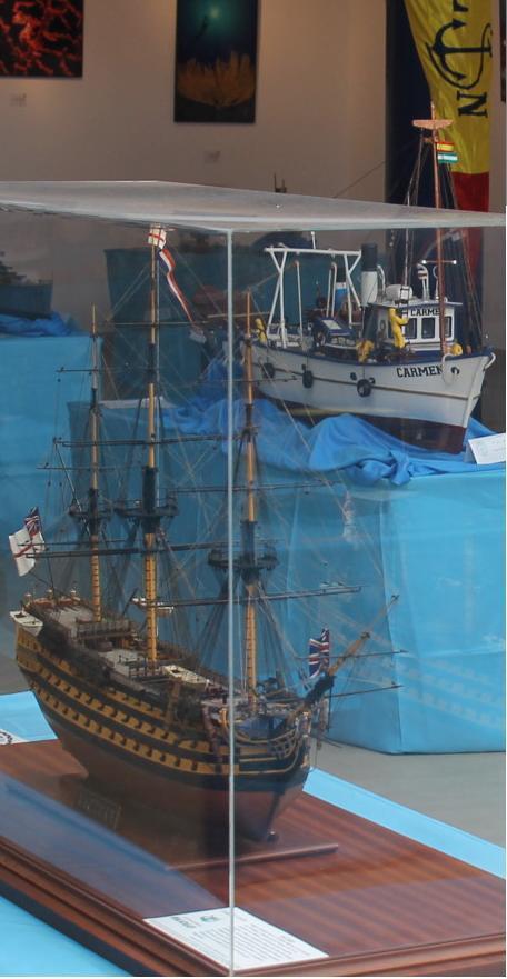 Unas 2000 personas visitaron la exposición de barcos en maqueta celebrada en La Herradura
