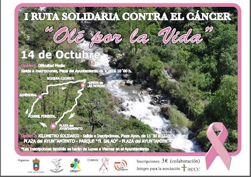 Lanjarón acoge la primera ruta solidaria contra el cáncer 'Olé por la vida'