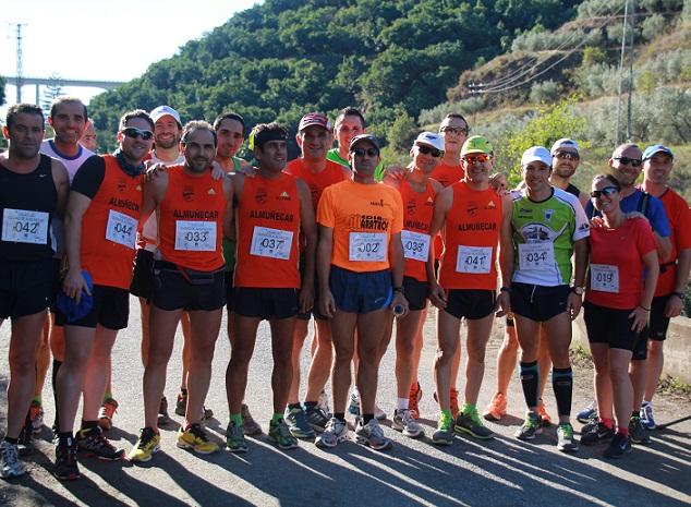Un total de 70 deportistas participaron en I  la Subida Pedestre a Peña Escrita