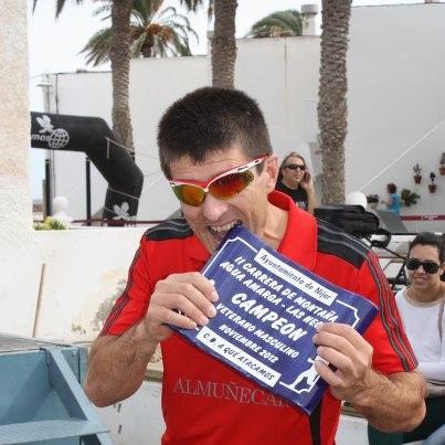 El atleta sexitano, David Jiménez, gana el II Trail Las Negras Festival Running  Cabo de Gata, en categoría Veteranos