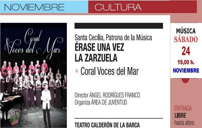 Este sábado actúa en concierto en el Calderón la Coral Voces del Mar