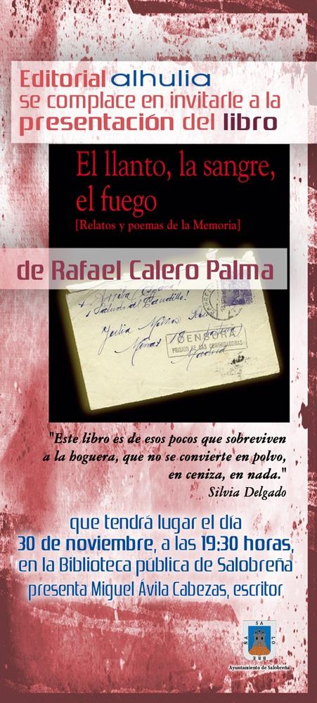"""Ya está en la calle """"El llanto, la sangre y el fuego"""" de Rafael Calero Palma"""