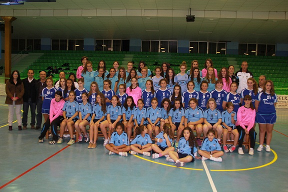 El BM Almuñécar  presenta  cinco equipos femeninos para esta temporada en las categorías: alevín, infantil, cadete y juvenil