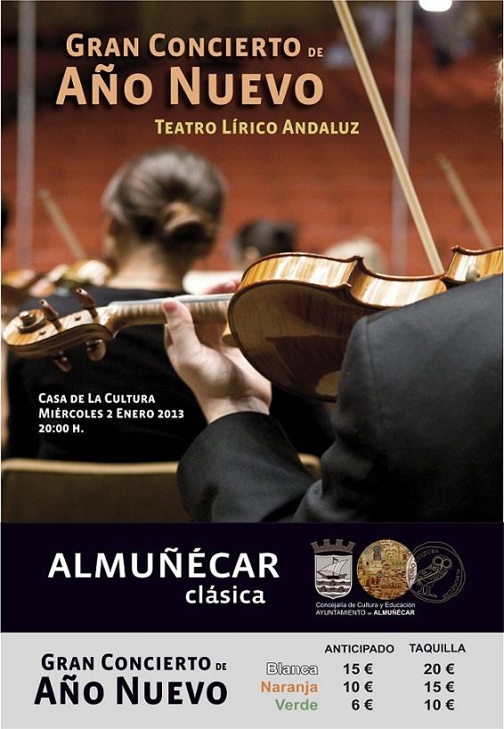 Almuñécar prepara el Gran Concierto de Año Nuevo a cargo del Teatro Lírico Andaluz