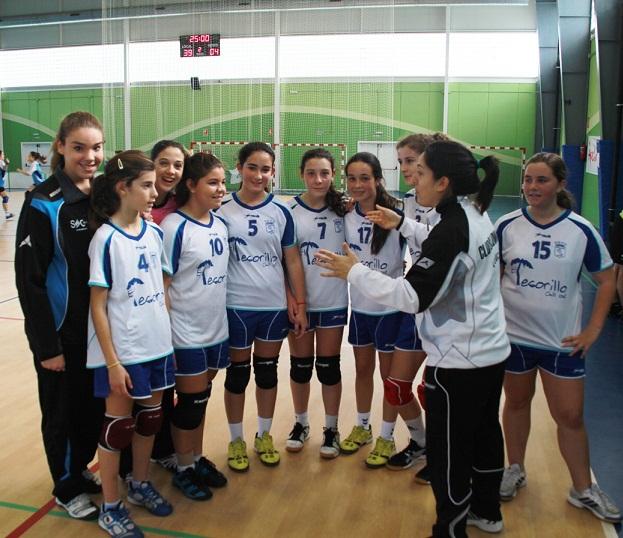 Cuatro y victorias y un empate para los equipos del  Balonmano femenino Almuñécar