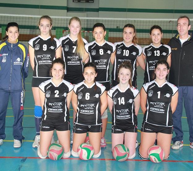 Las chicas cadetes y juveniles del Voleibol Almuñécar líderes provinciales
