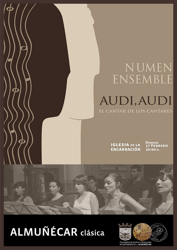 """Ensemble Vocal Numen presenta en Almuñécar el concierto  """"Audi, Audi"""""""