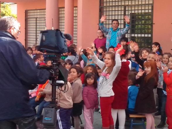 La Concejalía de Medio Ambiente colabora  con el Colegio  La Noria para la grabación del programa La Banda de Canal Sur