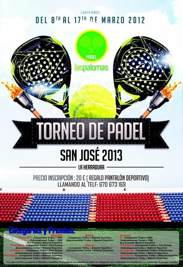 La Herradura celebrará su Torneo de Pádel San José del 8 al 17