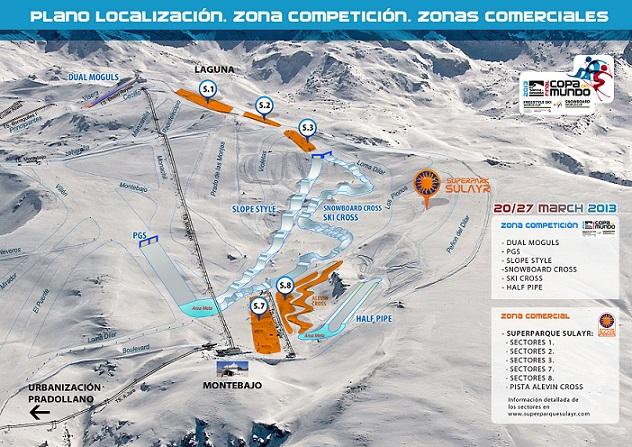 Sierra Nevada diseña los escenarios de la Copa del Mundo,  sin apenas incidencia en el área esquiable