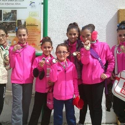 Tres podios para al gimnastas almuñequeras en el torneo Ciudad de Loja