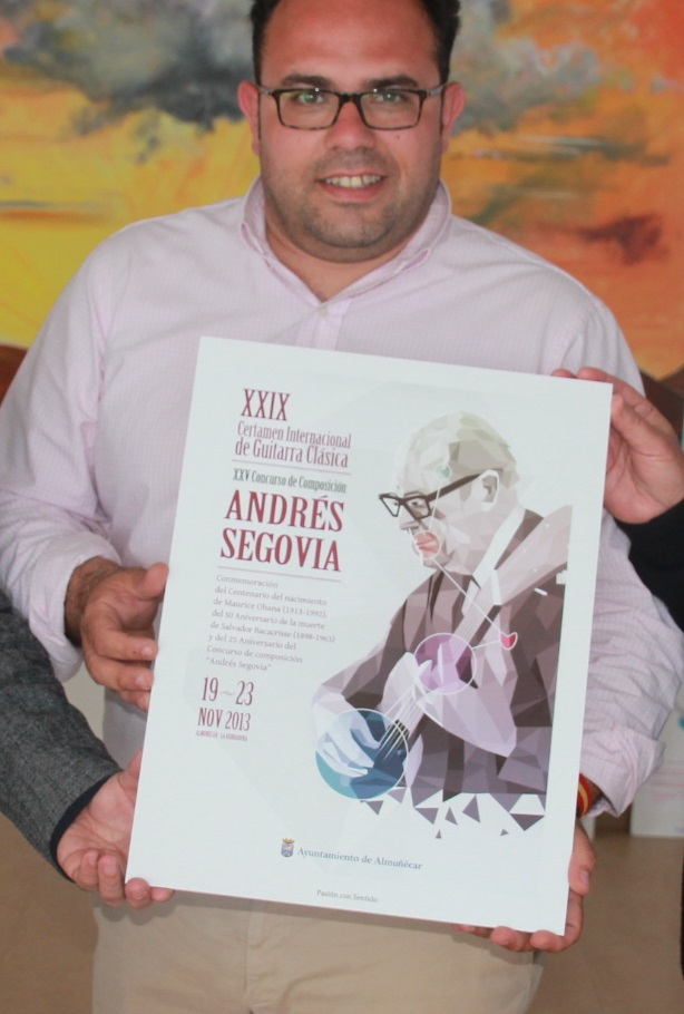 """Elegido el cartel para el XXIX Certamen Internacional de Guitarra Clásica """"Andrés Segovia"""" 2013"""