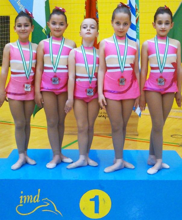El equipo Benjamín de la Escuela de Gimnasia Rítmica de Almuñécar se proclama campeón de Andalucía Oriental