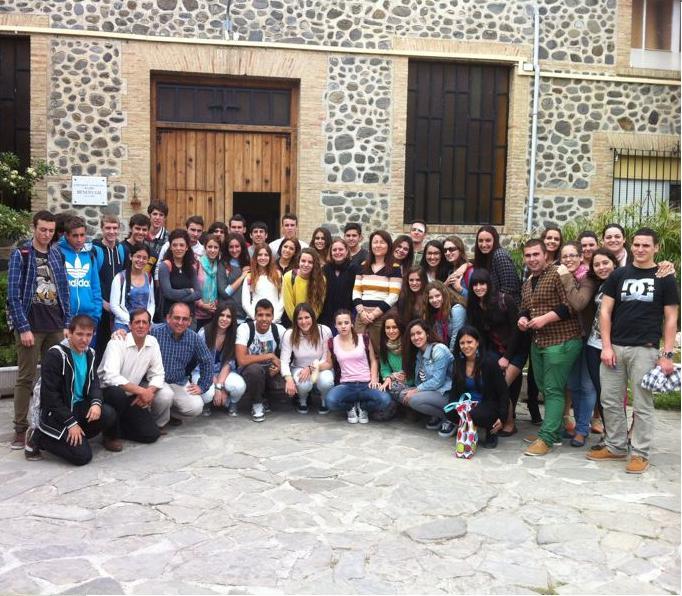 Estudiantes  del IES Antigua Sexi conocen una Comunidad Terapéutica de Proyecto Hombre de Málaga