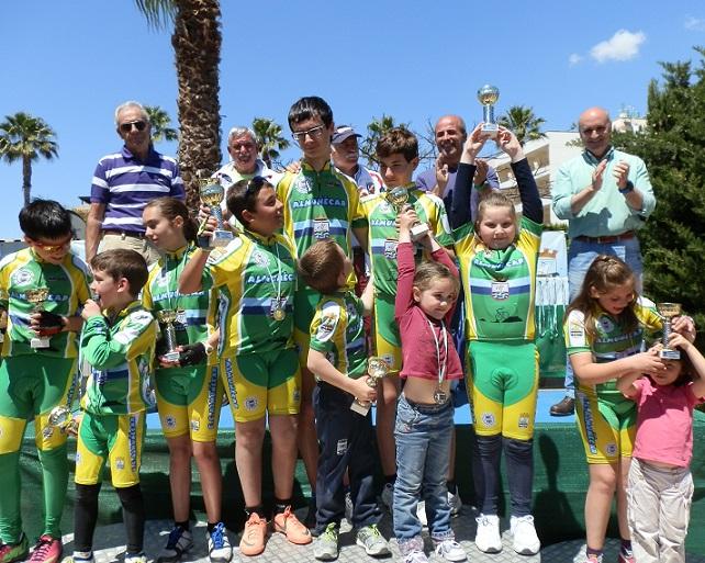 La Escuela de Ciclismo Sexitana consiguió hasta nueve podios en el XXII Memorial David González de Almuñécar