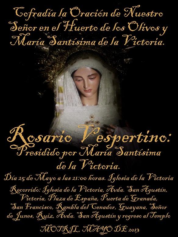 XXV aniversario de la Cofradía La Oración de Ntro. Señor en el Huerto de los Olivos y María Stma. de la Victoria