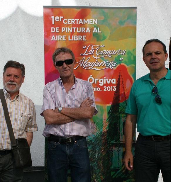 Medio centenar de artistas se dan cita en Órgiva en el I Certamen de Pintura al aire libre de la Alpujarra