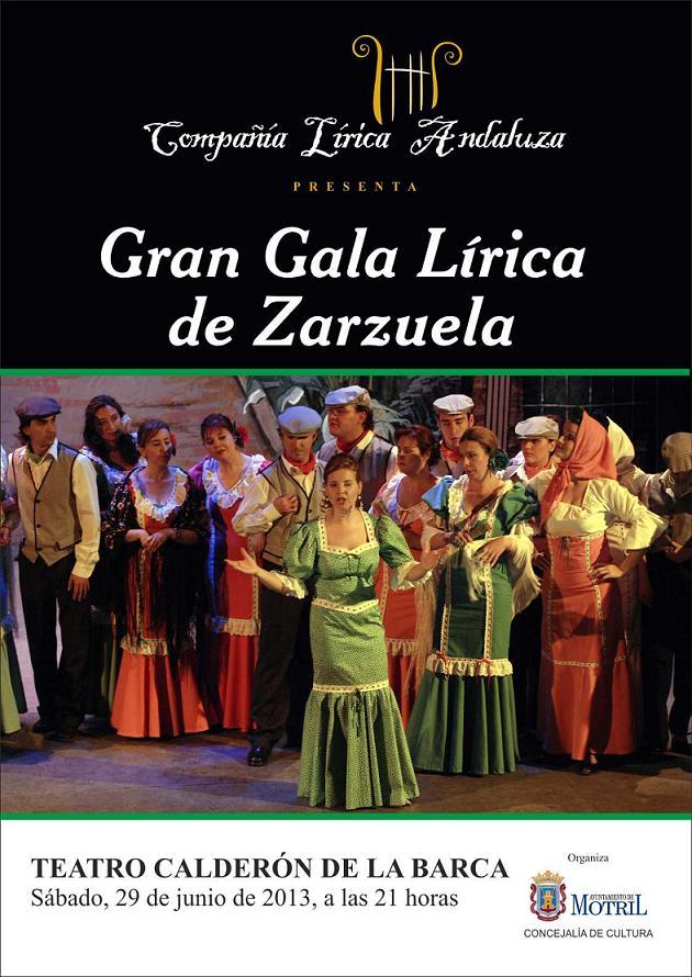 Gran Gala Lírica de Zarzuela en el Teatro Calderón de Motril