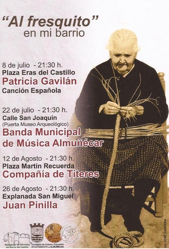 """Este lunes arranca el programa cultura """"Al fresquito en mi barrio"""" dedicado al barrio de San Miguel de   Almuñécar"""