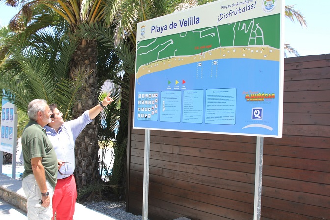 Las playas almuñequeras  de Velilla y Puerta del Mar  consiguen la Q de Calidad