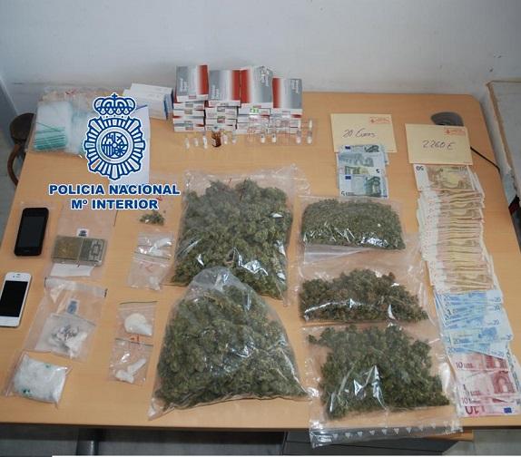 La Policía Nacional desarticula un grupo dedicado a la distribución y tráfico de diferentes drogas