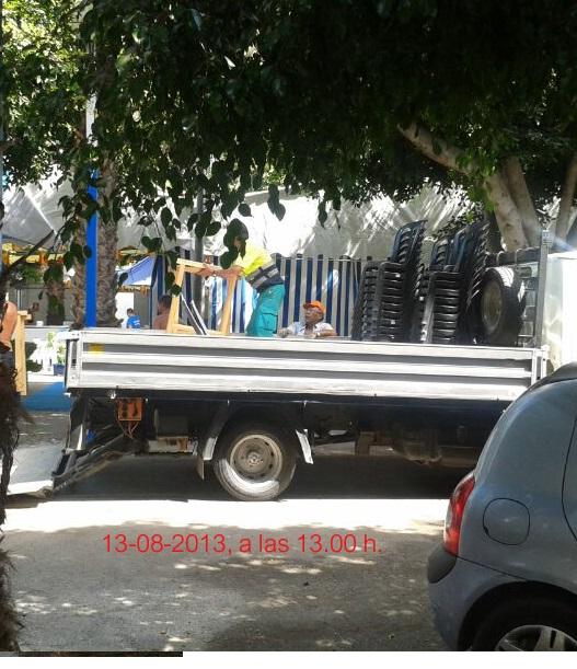 "Según el PA ""la alcaldesa Almuñécar utiliza material municipal para la caseta del PP"""