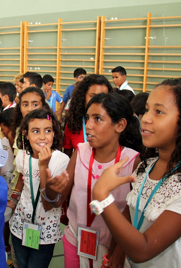 Los niños saharaui se despiden después de dos meses de vacaciones en la provincia de Granada