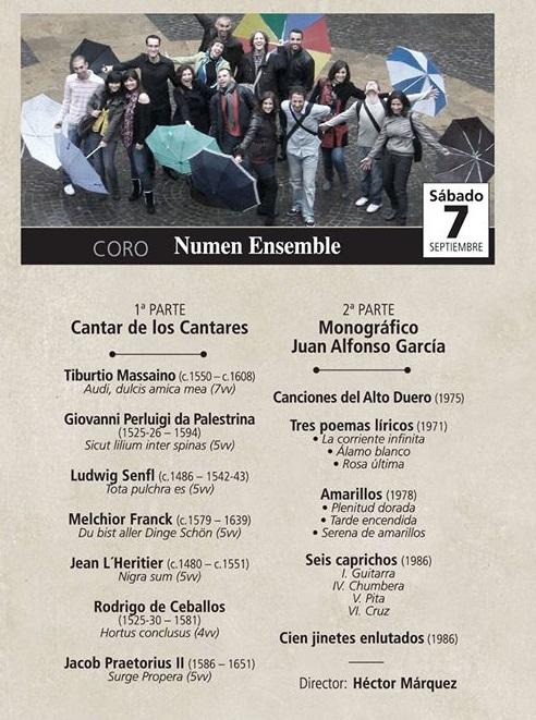 El Coro Numen Ensemble abre el ciclo de conciertos del VI Festival de Música Sacra Rey Balduino